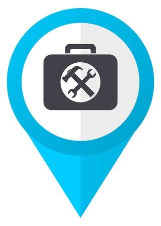 map toolkit: Toolkit blue pointer icon