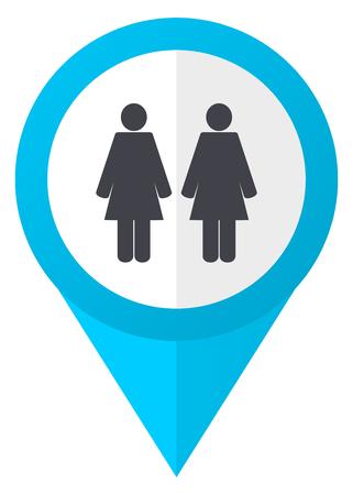 Couple blue pointer icon