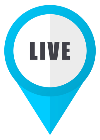 Live blue pointer icon