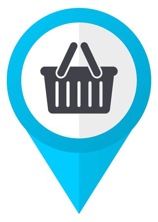 Cart blue pointer icon