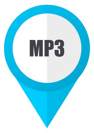 Mp3 blue pointer icon