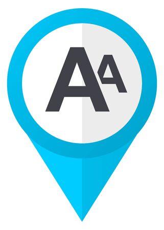 marca libros: Alphabet blue pointer icon