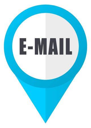 Email blue pointer icon Stock Photo