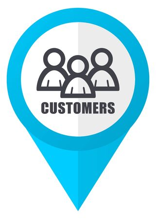 Customers blue pointer icon