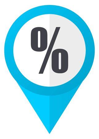 Percent blue pointer icon Stock Photo