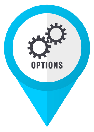 map toolkit: Options blue pointer icon
