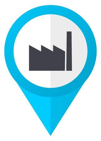 Factory blue pointer icon Stock Photo