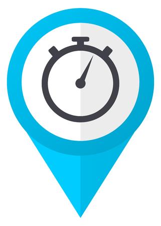 stopwatch blue pointer icon 스톡 콘텐츠