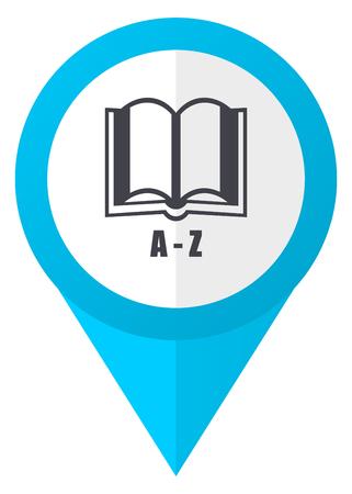 marca libros: Diccionario blue pointer icon