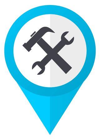 Tool blue pointer icon