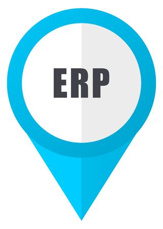 erp: Erp blue pointer icon