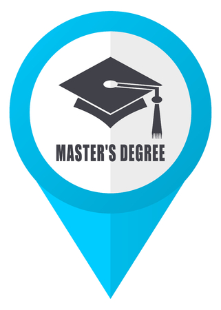 Masters degree blue pointer icon