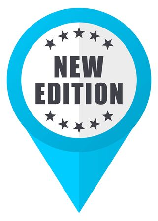 New edition blue pointer icon