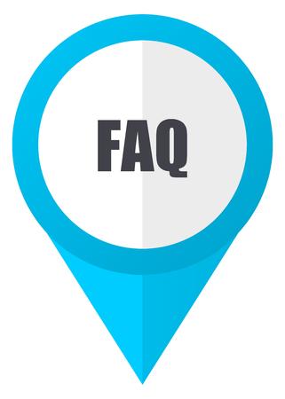 Faq blue pointer icon