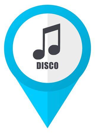 Disco music blue pointer icon