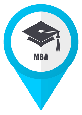 Mba blue pointer icon