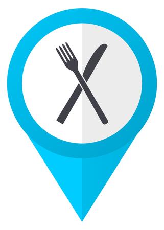 Restaurant blue pointer icon