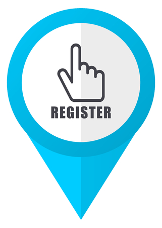 Register blue pointer icon