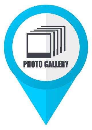Photo gallery blue pointer icon