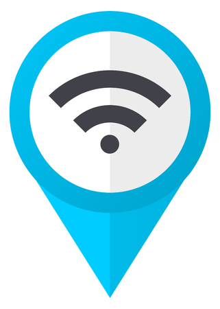 Wireless blue pointer icon