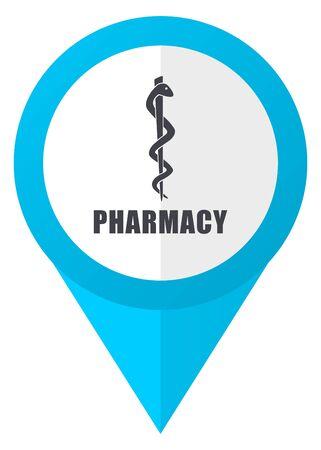 Pharmacy blue pointer icon