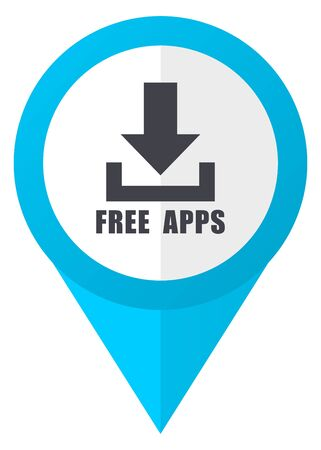 Free apps blue pointer icon
