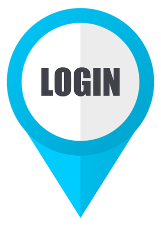 logging: Login blue pointer icon