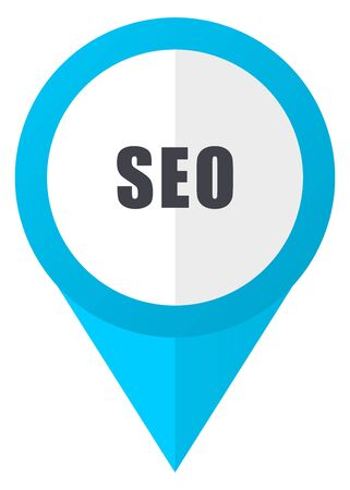 Seo blue pointer icon