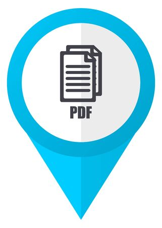 pdf: Pdf blue pointer icon , Stock Photo