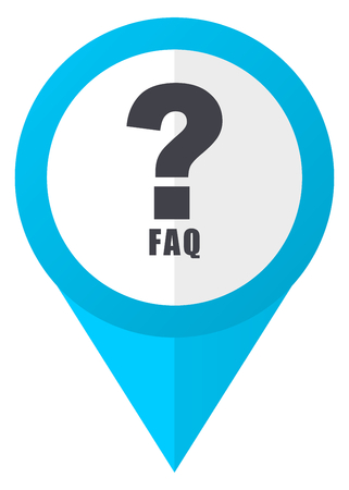 Faq blue pointer icon