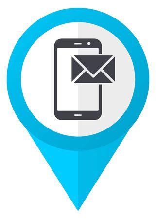 Mail blue pointer icon