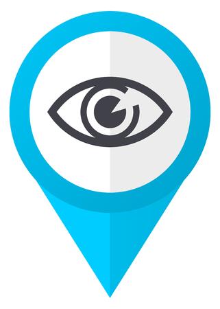 Eye blue pointer icon