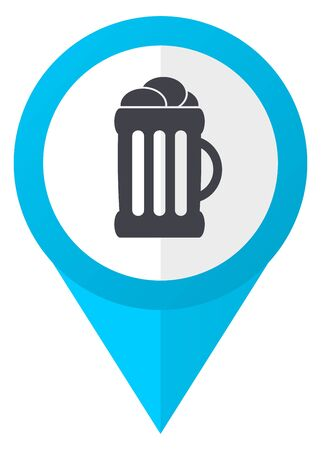 Beer blue pointer icon