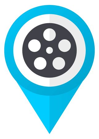 Film blue pointer icon