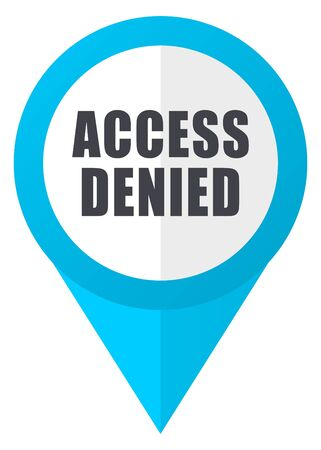 access denied: Access denied blue pointer icon Stock Photo