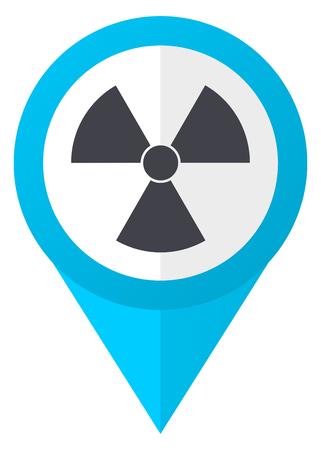 Radiation blue pointer icon