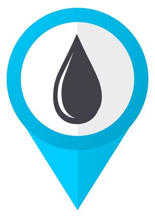 drinkable: Water drop blue pointer icon