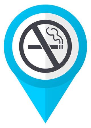 喫煙青いポインター アイコンがないです。 写真素材