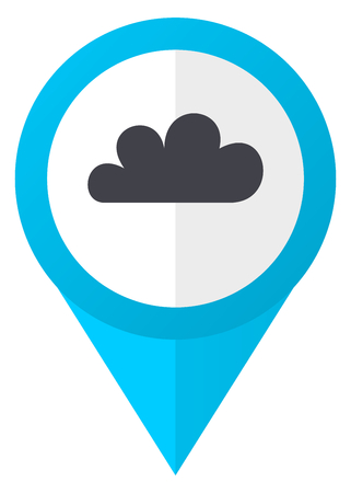 Cloud blue pointer icon Stock Photo