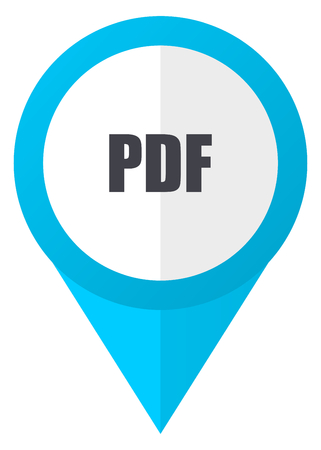 pdf: Pdf blue pointer icon