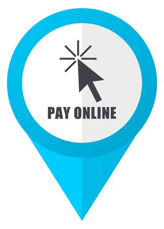 Pay online blue pointer icon