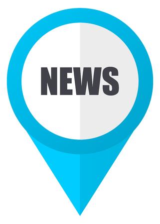 News blue pointer icon