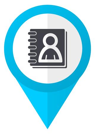 marca libros: Address book blue pointer icon