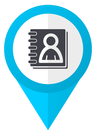 Address book blue pointer icon