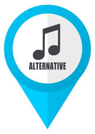 Alternative music blue pointer icon