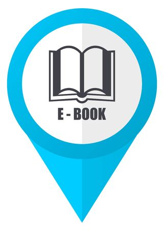 Book blue pointer icon