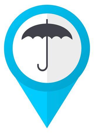 Umbrella blue pointer icon Stock Photo