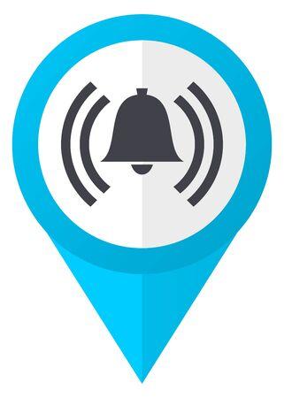 Alarm blue pointer icon Stock Photo