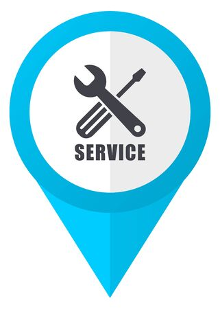 map toolkit: Service blue pointer icon