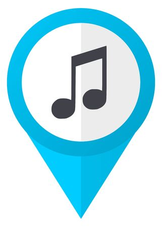 melodic: Music blue pointer icon